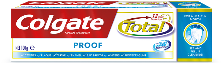 Colgate Total<sup>®</sup> Proof Toothpaste