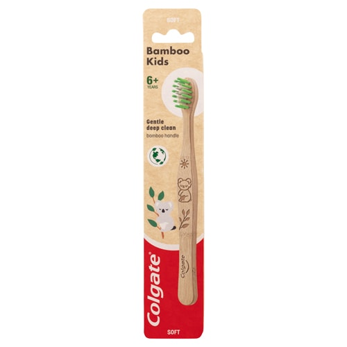 Colgate<sup>®</sup> Kids 6+ Years Bamboo Soft Manual Toothbrush