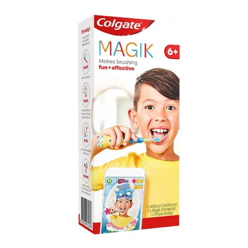 Colgate<sup>®</sup> Magik™ Kids Toothbrush With Augmented Reality App 6+ Years