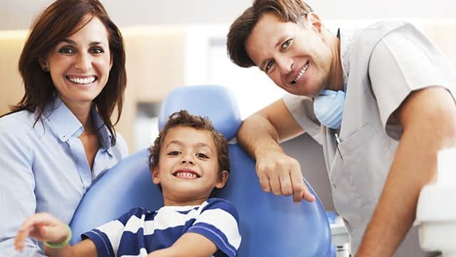 pediatric dentist with family